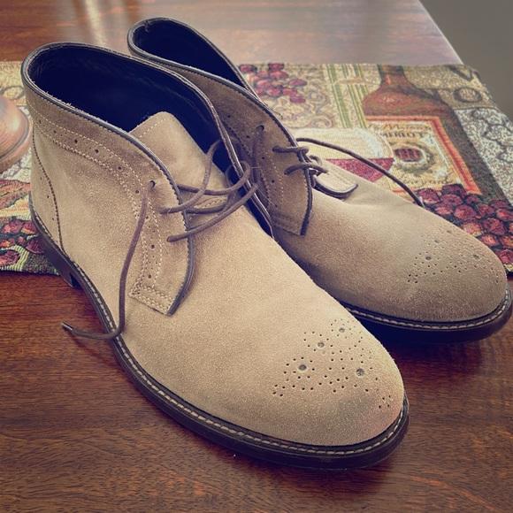 Johnston Murphy Grey Suede Boot